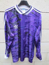 VINTAGE Maillot ADIDAS violet trikot oldschool années 90 shirt L maglia jersey