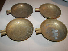 Vintage World Gift Z Y Brass India Oriental Art Ashtray Flower Set of 4