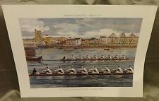 Ready to Start  Oxford and Cambridge Boat Race Poster 1985