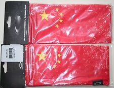 "OAKLEY MICRO-FIBER SUNGLASSES BAG...""CHINA FLAG"""