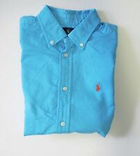 Ralph Lauren Boys Blake Oxford Short Sleeve Shirt Turquoise Sz L (14-16) - NWT