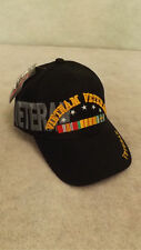 Vietnam Veteran Hat/Cap Large Embroidered Logo Campaign Ribbon Army,Navy,Marine