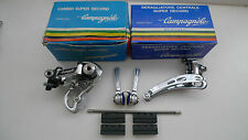 VINTAGE NOS Campagnolo Super Record DERMABLEND / SHIFTER brasatura in Set MINT BOXED