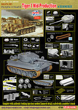 Dragon 1/35 6700 SdKfz 181 Pz.Kpfw.VI Ausf.E Tiger I Mid-Production w/Zimmerit