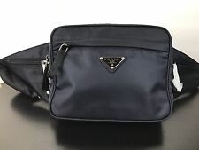 NWT AUTHENTIC PRADA Dark Navy Nylon Waist Bag Fanny Pack W/ Receipt