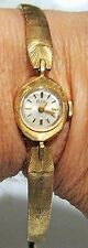 VINTAGE LADY ELGIN 313 17 JEWEL WRIST WATCH 14K GOLD CASE~MANUAL WIND WORKING