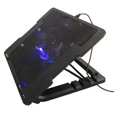 "USB LED 2 Fan Cooling Cooler Adjustable Stand Pad for 9""-17"" Notebook Laptop FR"