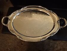 """Reed & Barton Large Waiter Tray Silver plate   26 1/2 """" X 16"""""""
