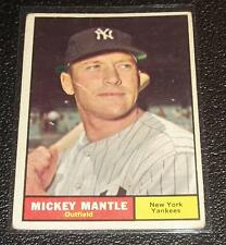 1961 Topps Mickey Mantle #300 Vintage Baseball Card New York Yankees