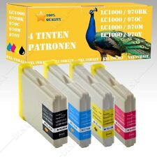 4x Ink cartridges suitable for Brother LC 970 LC1000 DCP 130C / DCP 135C DiSa