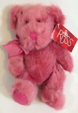 Russ Berrie Teddy Bear Purple Pink Plush LUV'UMS Luvums Stuffed Animal 8""