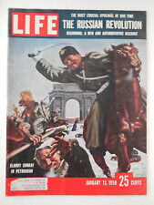LIFE MAGAZINE JANUARY 13, 1958 BLOODY SUNDAY IN PETROGRAD