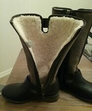 New Ugg Australia Chancery Women US 6 Brown Motorcycle Boots $275