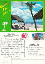 1982 SIESTA KEY BEACH SARASOTA FLORIDA UNITED STATES COLOUR POSTCARD