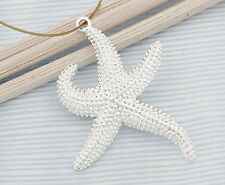 925 Sterling Silver Starfish Pendant 21x27mm.