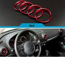 For Audi A3 8V 2012-2015 Stainless Steel Air Vent Outlet Ring Cover RED UK STOCK