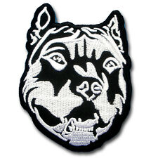 Pitbull Patch Iron On Animal Dog Badge Sew Biker Race Emblem Jacket Tattoo Club
