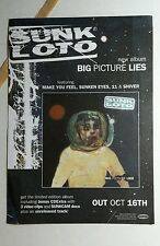 SUNK LOTO BIG PICTURE LIES MUSIC 6x8 PROMO MINI POSTER FLYER