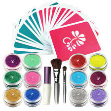 OPHIR Temporary Tattoos Glitter Powder for Body Art Paint 12 Color/Lot_TA060