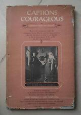 CAPTIONS COURAGEOUS REISNER KLAPPLOW 1958