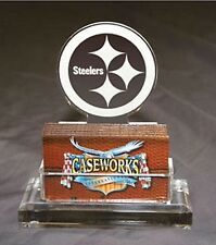 Pittsburgh Steelers Logo Acrylic Caseworks Business Card Holder Desk Gift Dad