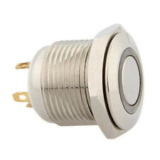 Blue Led Durable 16Mm 3V Momentary Push Button Metal Switch For Car