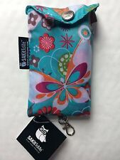 FLUTTERBY Foldable Shopping / Beach Bag Pouch & Clip SAKitToMe Eco Reusable Chic