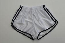 Frz. Vintage Shorts Gr.M NEU Sporthose Short Sport Nylon Glanz shiny retro weiss