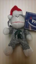 FOREVER  COLLECTIBLES  MICH  STATE  PLUSH  MONKEY CHRISTMAS  ORNAMENT