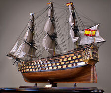"SANTISIMA TRINIDAD 53"" wood model ship large scaled Spanish sailing boat"