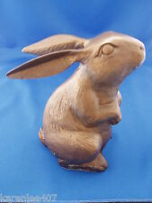 Vintage Brass Large  Bunny Rabbit  Decorative Figurine Paperweight  Cute!