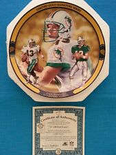 "DAN  MARINO       ""LIMITED GOLD SIG. SERIES""    BRADFORD  EXCHANGE  PLATE - ""13"""