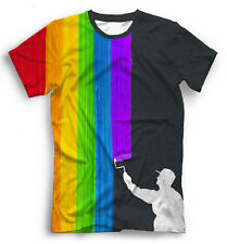 "Gay Pride LGBT Mens T-Shirt, Full Printed Creative Tee, Sizes XS - 5XL ""Painter"""