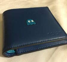 Coach Men Wallet PacMan Blue Leather F56054 with Removable ID Card Case BNWT