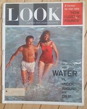 LOOK MAGAZINE AUGUST 1 1961 WATER IN UNDER AROUND ON IT HOW I LOST 110 LBS