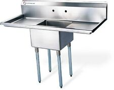 "EQ Compartment Sink Kitchen Commercial Stainless Steel Silver 30""X19.5""X43.75"""