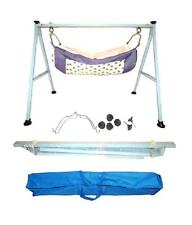Baby Cradle,Cote,Swing fully folding blue color with two pc of cotton hammock.