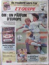 L'Equipe du 18-19/9/1993 - OM - Auriol - Le Brésil -