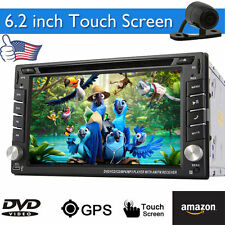 Camera+In Dash GPS Navigation Car Stereo DVD CD Mp3 Player Bluetooth Radio SD/FM