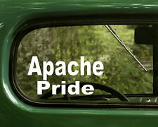 2 APACHE PRIDE STICKERs Native American Decal for Car Truck Laptop Window Bumper