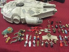 Star Wars Micro Machines 65 Figures Millennium Falcon  6 Ships Lot