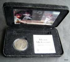 Mark McGwire 62nd Home Run Highland Mint Motion Card & Nickel Silver Coin Set 98