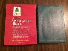 NIV 1984 Life Application Study Bible - Teal Bonded Leather - Out of Print 84