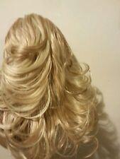 Postiche extension bouclés CLIP cheveux synthétiques blond DORE MIEL brillants