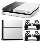 SKIN PS4 PROTECTION DECOR BLANC BRILLANT AUTOCOLLANT STICKER PS4S010