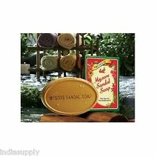 MYSORE SANDAL  SOAP 75 GMS with sandalwood oil good for skin infections rashes