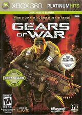 XBOX 360 Gears of War Video Game Multiplayer Online Shooter Platinum Hits DISC