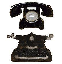 Sizzix Vintage Telephone & Typewriter magnetic die set #657839 Retail $15.99