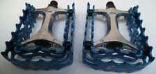 Conspiracy VP 458A BMX/Trials duo-cage pedals,Black,Red,Blue.NEW Onza O/Bearing