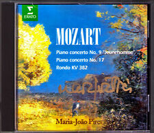 Maria Joao PIRES Signed MOZART Piano Concerto No.9 ,17 Jeunehomme CD GUSCHLBAUER